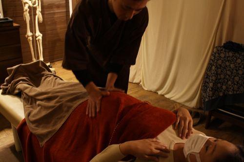 妊婦整体の施術